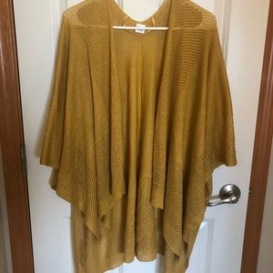 Mustard Yellow kimono shawl